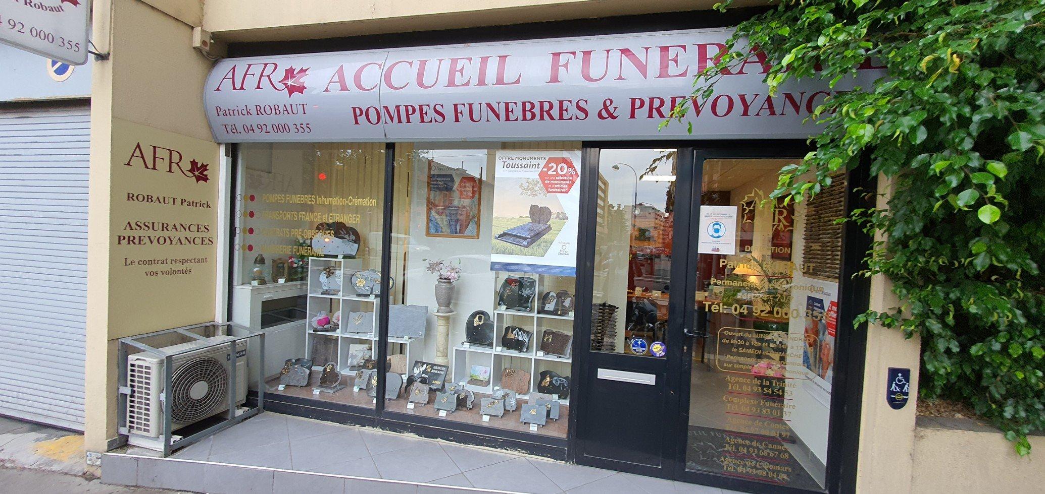 Accueil Funéraire ROBAUT France Obsèques Nice quartier Saint ROCH