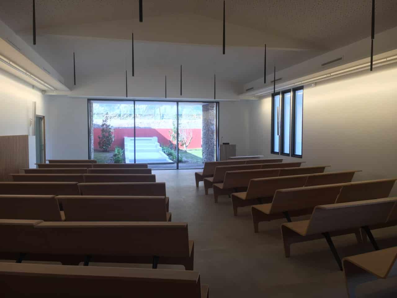 Salle de cérémonie du crématorium de Saint Raphaël
