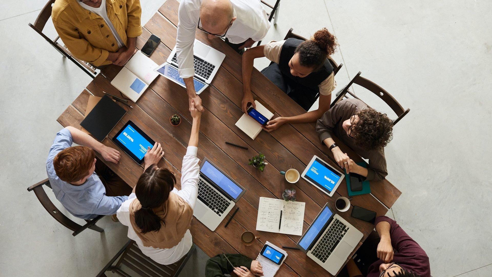 Photo de réunion d'équipe